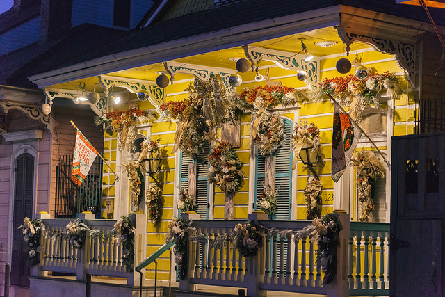 Enjoy a historic carriage tour and view the best christmas decorations in New Orleans' French Quarter